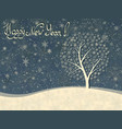 christmas greeting card of winter snowflakes tree vector image vector image