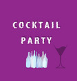 cocktail party ilustration vector image