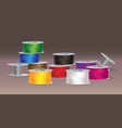 colorful threads vector image vector image