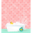comfortable equipment for bathing and relaxing vector image
