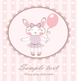 Cute bunny girl with balloon vector image vector image