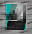 dark business brochure design with geometric vector image vector image