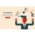 Data analysis research concept vector image
