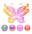design of butterfly vector image vector image