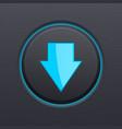 down arrow black button vector image vector image