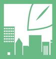 eco buildings 06 vector image vector image