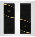 Elegant black leather vertical banner with two vector image vector image
