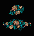 embroidery design in baroque style vector image vector image