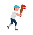 ethlete practicing cricket avatar vector image vector image
