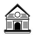 farm house symbol vector image vector image