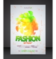 Fashion show flyer with multicolor woman vector image vector image
