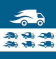 fast gelivery icon set vector image vector image