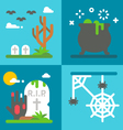 Flat design Halloween decor set vector image vector image