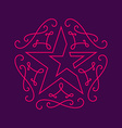 Floral monograms design template with star vector image vector image