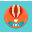 free badge vector image vector image