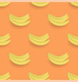 fresh yellow bananes seamless pattern vector image vector image