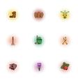 Gardening icons set pop-art style vector image vector image