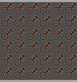 gender icon seamless endless pattern transgender vector image