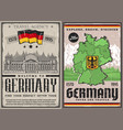 germany travel retro posters berlin city tours vector image