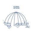 global network design concept vector image vector image