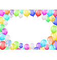 group colorful balloons on a white background vector image