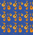 guitars pattern in dark blue background vector image