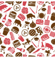 hamburger theme modern simple icons seamless color vector image