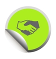 Handshake black icon vector image