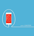 happy easter with phone wire and egg celebration vector image vector image