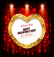 happy valentines day flyer or poster vector image