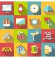 Hotel icons set flat style vector image