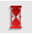 Hourglass sign vector image vector image