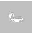 insurance computer symbol vector image vector image