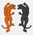 leopard and black panther tattoo vector image
