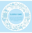 modern line icon senior and elderly care vector image vector image