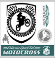 moto track logos and bages vector image vector image