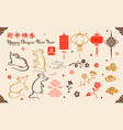 new year set for greeting cards and holiday design vector image