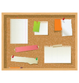office noticeboard vector image vector image
