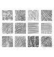 pencil sketch hatching with criss-cross effect set vector image vector image
