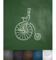 penny farthing icon Hand drawn vector image vector image