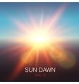 Realistic Sun Dawn Beams vector image vector image