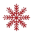 Red grunge snowflake logo vector image vector image