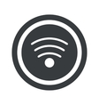 Round black Wi-Fi sign vector image vector image