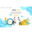 save time website landing page design vector image