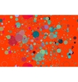 seamless pattern of colored circles on a red vector image vector image