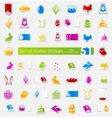 Set of easter stickers vector image vector image
