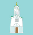 single icon with bell-tower image vector image