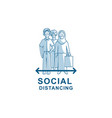 social distancing avoid crowds template vector image