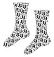 socks icon composition vector image