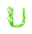 spring flowers alphabet u vector image vector image